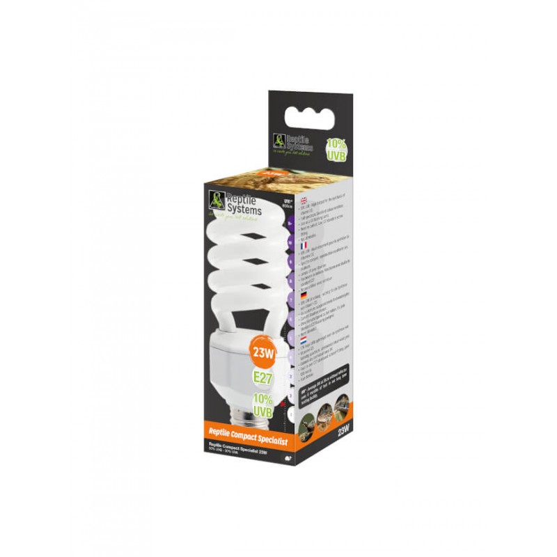 Lampe Compact Specialist 10% UVB E27 Reptile Systems