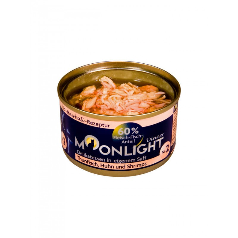 Alimentation naturelle thon, poulet & crevette Moonlight
