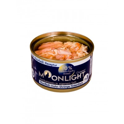 Moonlight Alimentation naturelle thon, poulet, crevette & poulpe Moonlight 964308