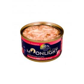 Alimentation naturelle thon, poulet & crevettes en gelée Moonlight-Moonlight-964314