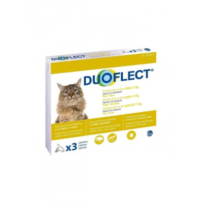 Pipettes Antiparasites Duoflect - Chat 1 à 5 kg-DUOFLECT-