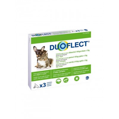 Pipettes Antiparasites Duoflect - Chat & chien 5 à 10 kg-DUOFLECT-