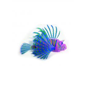 Décor d'aquarium en silicone Poisson Lion Rose