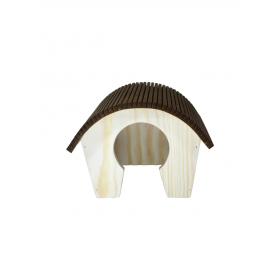 Maisonnette en bois pour hamster 20 x 17 x 15 cm