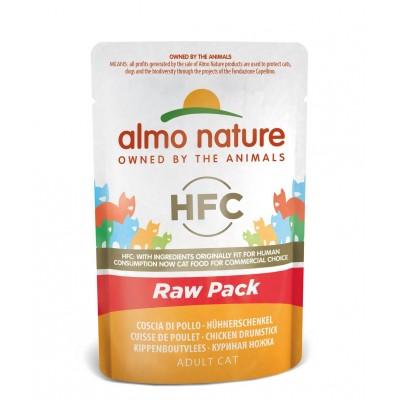 Almo Nature Pâtée en pochon HFC Raw Pack Cuisse de poulet Almo Nature 55 g ALC5820