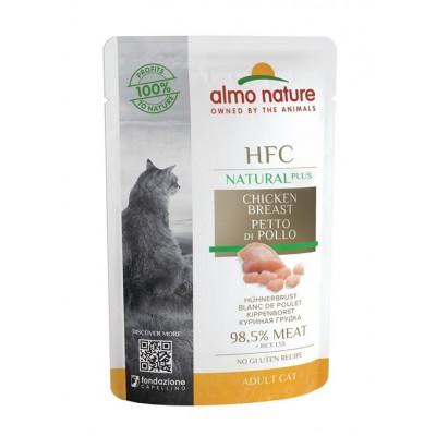 Almo Nature Pâtée en pochon HFC Natural Plus Blanc de poulet Almo nature 55 g ALC4700