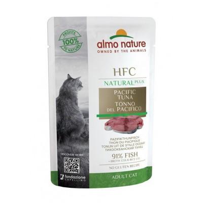 Almo Nature Pâtée en pochon HFC Natural Plus Thon du pacifique Almo nature 55 g ALC4702