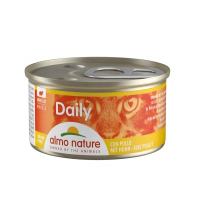 Almo Nature Menu Daily Sans céréale Mousse au poulet Almo Nature 85 g ALC153