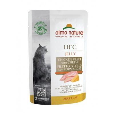 Almo Nature Pâtée en pochon HFC Jelly Filets de poulet & Fromage 55 g ALC5830
