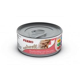 Boites & sachets Morceaux Thon & Crevettes - Perro Natural - Nourriture pour chat