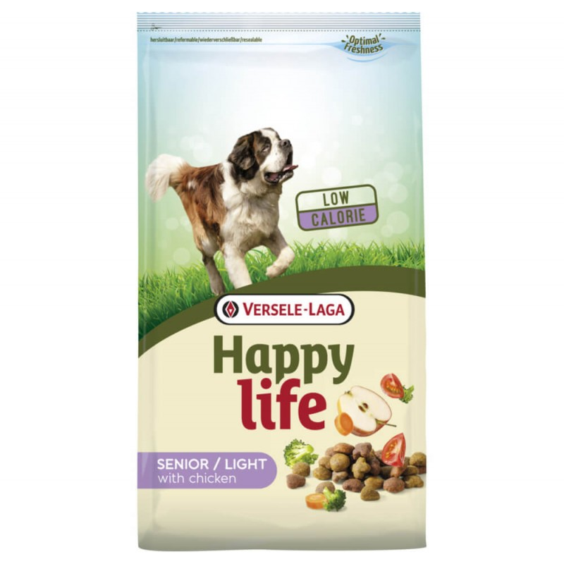 Croquettes Happy Life Senior / Light au Poulet