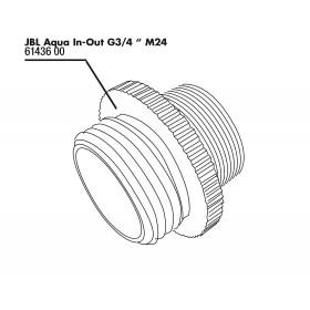 JBL Aqua In-Out Adaptateur métallique G3/4 M24