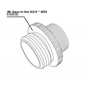 JBL Aqua In-Out Adaptateur métallique G3/4 M28/M22
