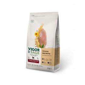 Croquettes Vigor & Sage - Ginseng, poulet & thé vert - Taille moyenne-Vigor & Sage-17004