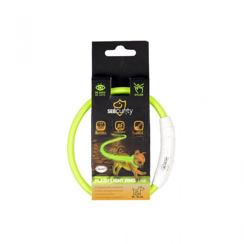 Anneaux lumineux Seecurity USB Nylon Vert