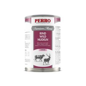 Paté Perro Premium Menue - Junior Boeuf, Gibier & Pâtes