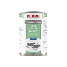 Paté Perro Premium Menue - Adulte Boeuf, Renne et Pâtes complètes