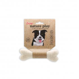 Petit os à mâcher Nature play - Jouet en laine Corwex-Corwex-80407