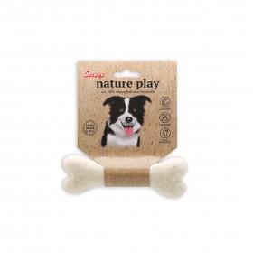 Petit os à mâcher Nature play - Jouet en laine Corwex