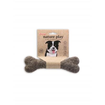 Grand os à mâcher Nature play - Jouet en laine Corwex
