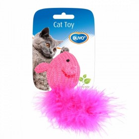 Souris en laine rose Cat Toy Duvo+