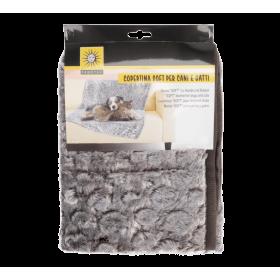 Plaid gris pour animaux