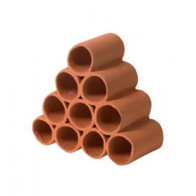 Décor en céramique Hobby Prawn Pyramid 4-3-2-1 red